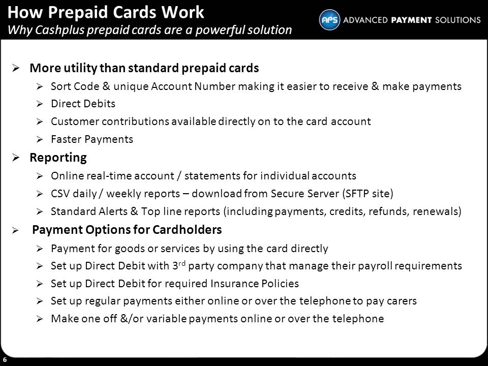 How Prepaid Cards Work Why Cashplus prepaid cards are a powerful solution