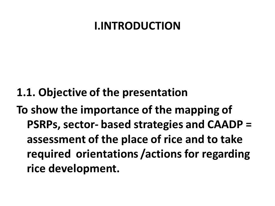 I.INTRODUCTION 1.1. Objective of the presentation.