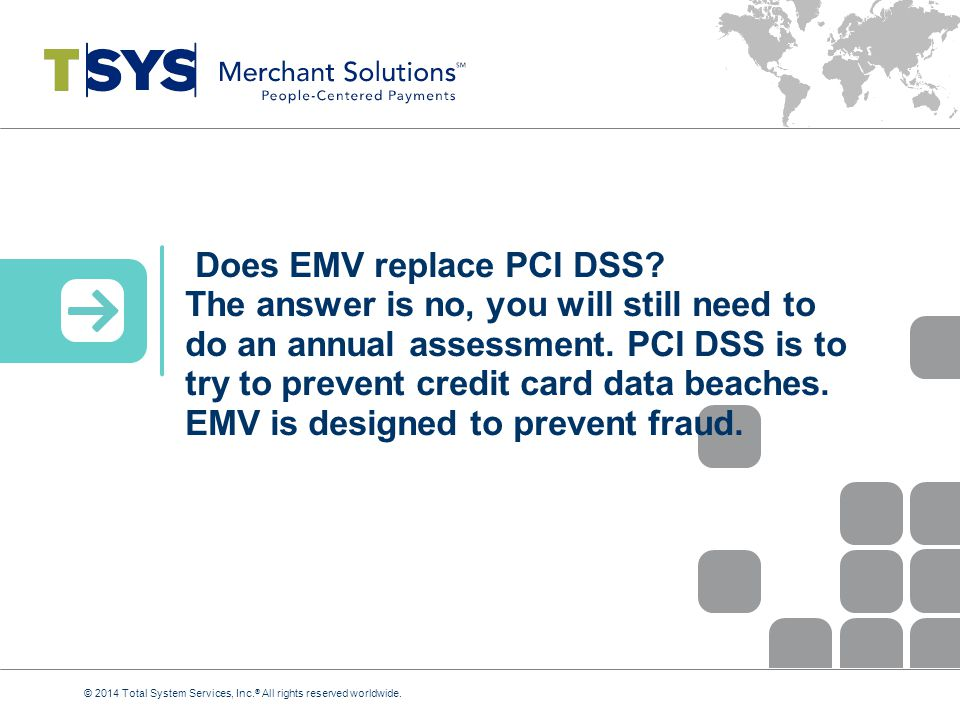 Does EMV replace PCI DSS