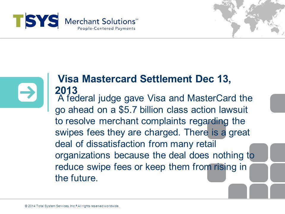 Visa Mastercard Settlement Dec 13, 2013