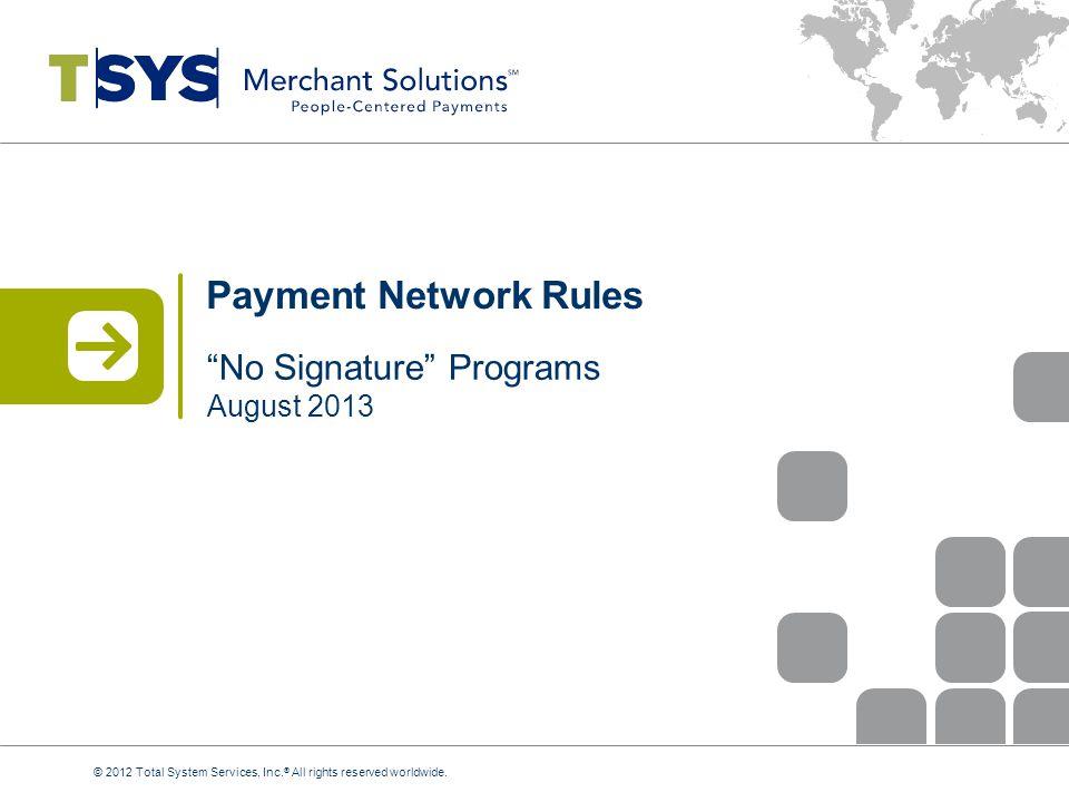 No Signature Programs August 2013