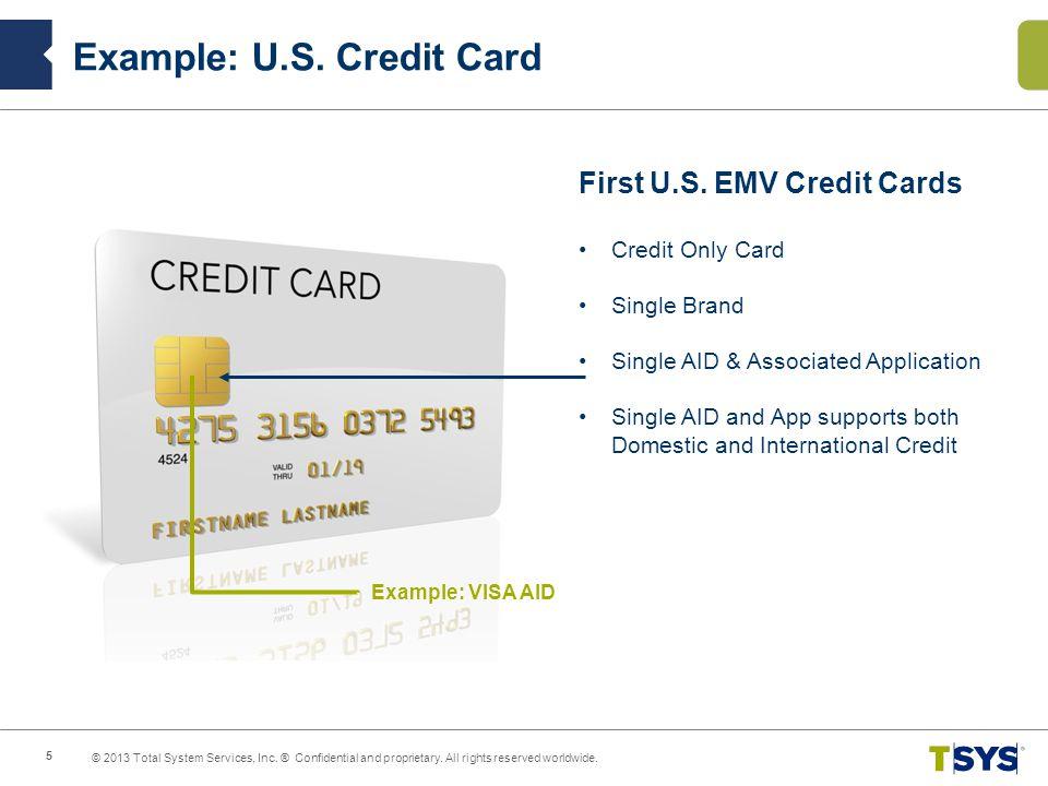 Example: U.S. Credit Card