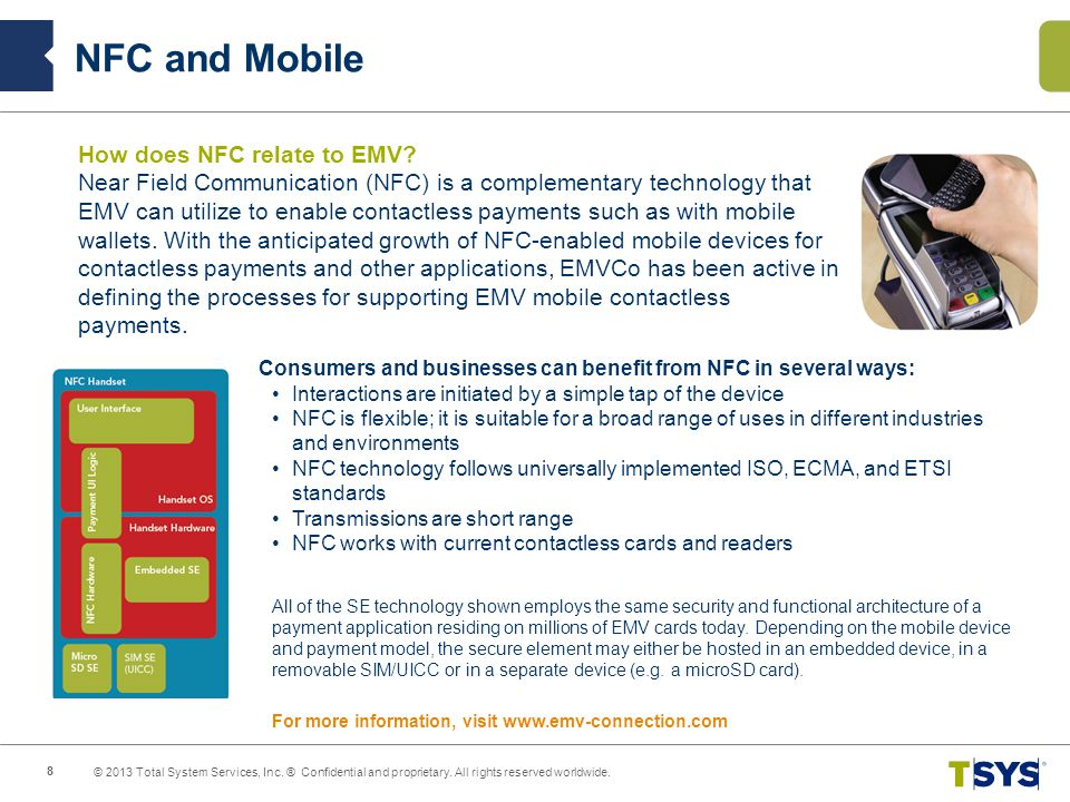 NFC and Mobile How does NFC relate to EMV