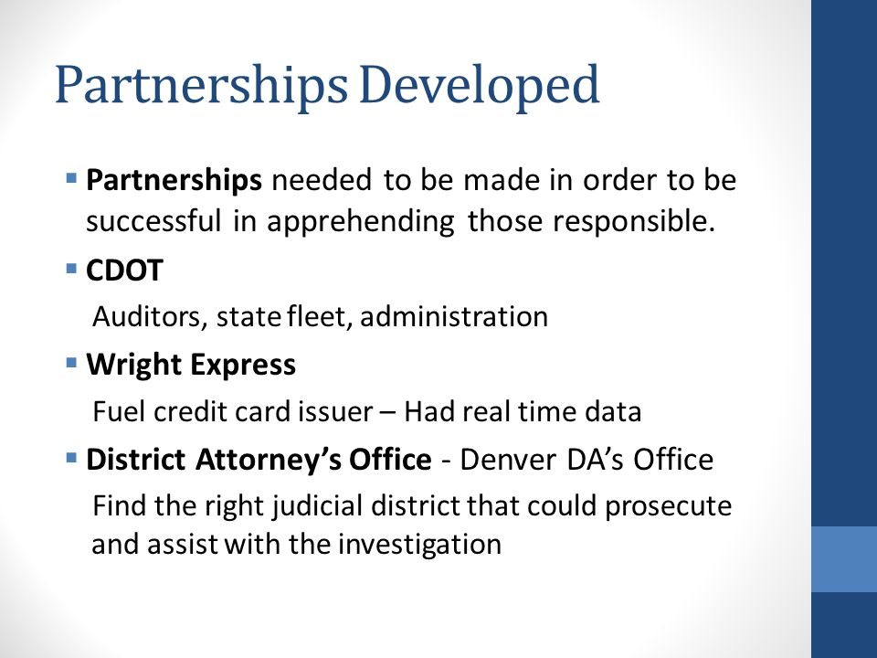 Partnerships Developed