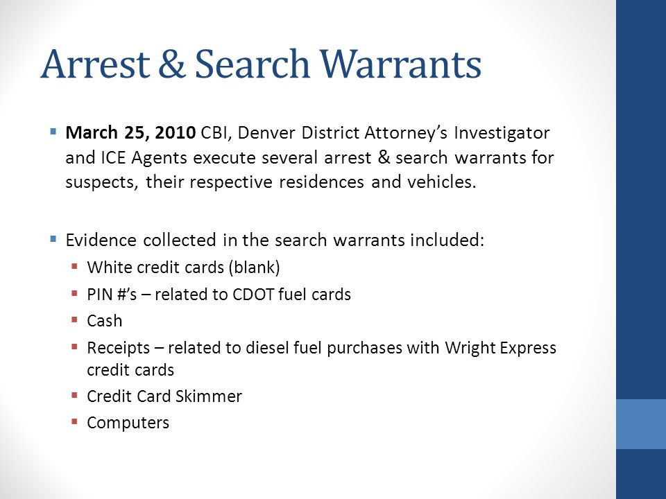 Arrest & Search Warrants