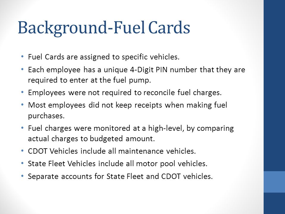 Background-Fuel Cards