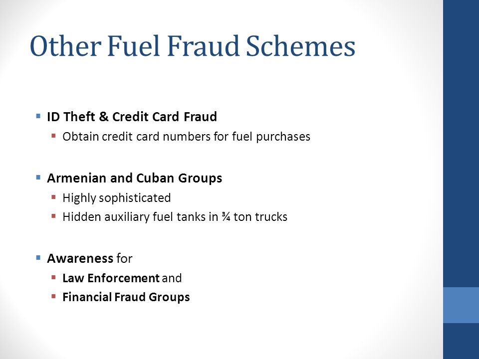 Other Fuel Fraud Schemes
