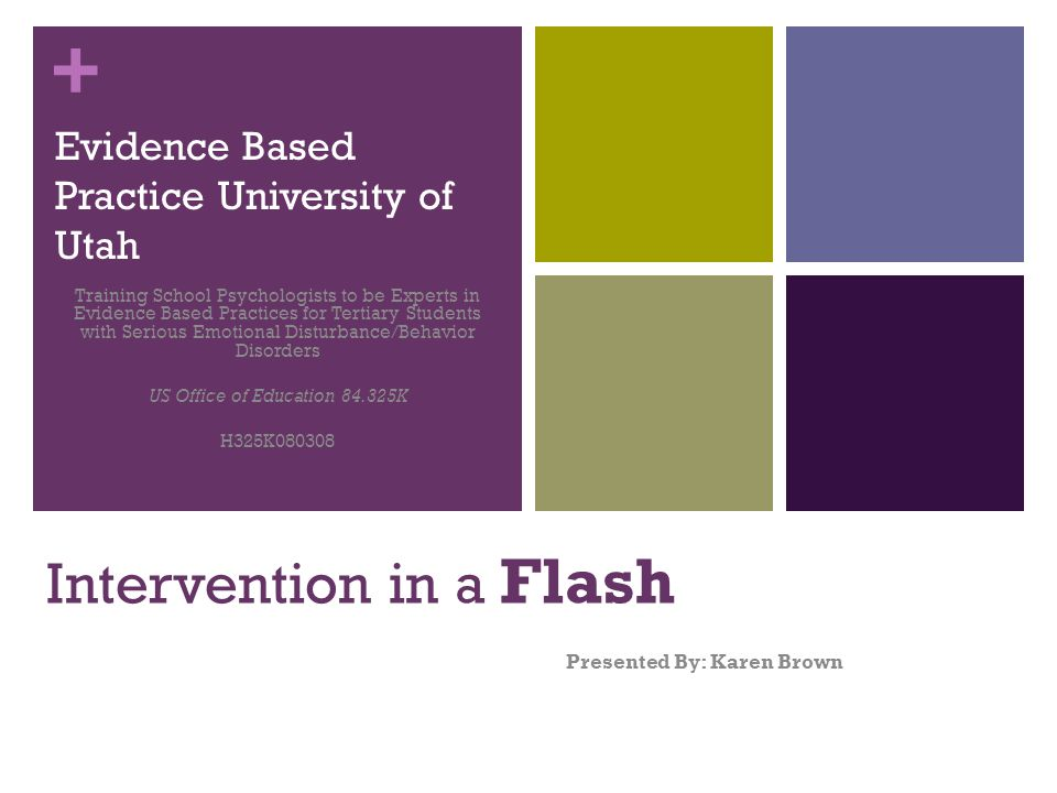 Intervention in a Flash