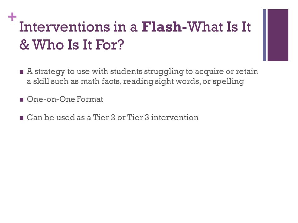 Interventions in a Flash-What Is It & Who Is It For