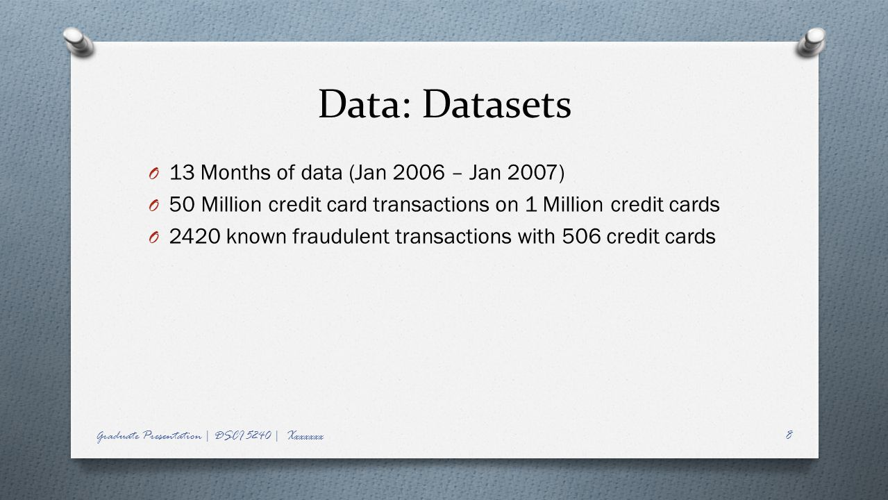 Data: Datasets 13 Months of data (Jan 2006 – Jan 2007)