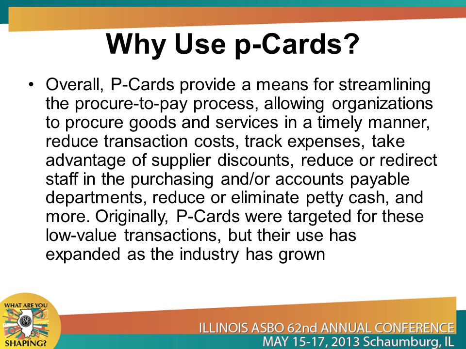 Why Use p-Cards