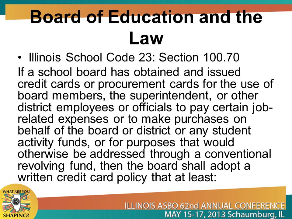 Board of Education and the Law