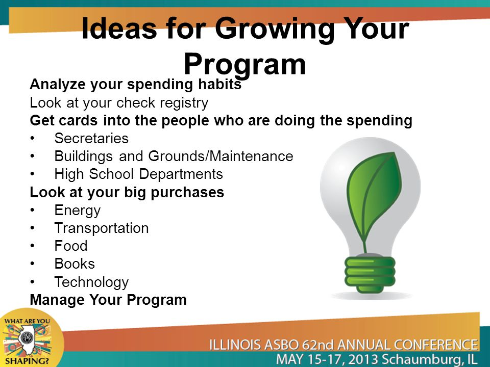 Ideas for Growing Your Program
