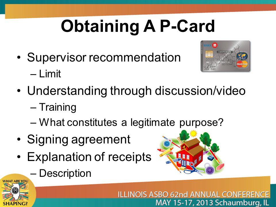 Obtaining A P-Card Supervisor recommendation