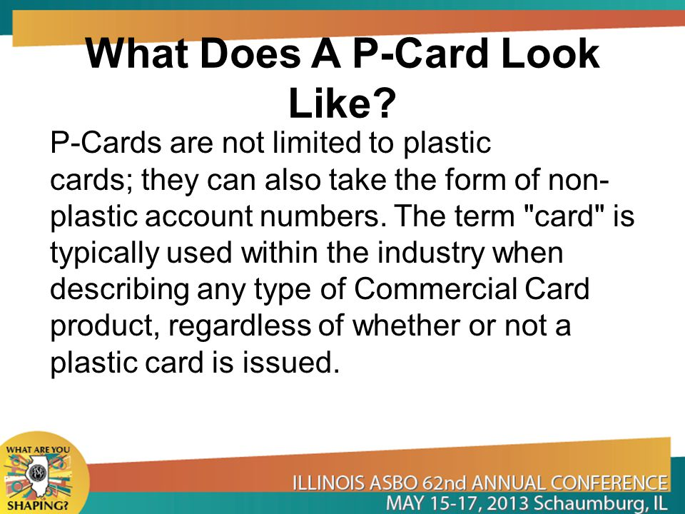 What Does A P-Card Look Like