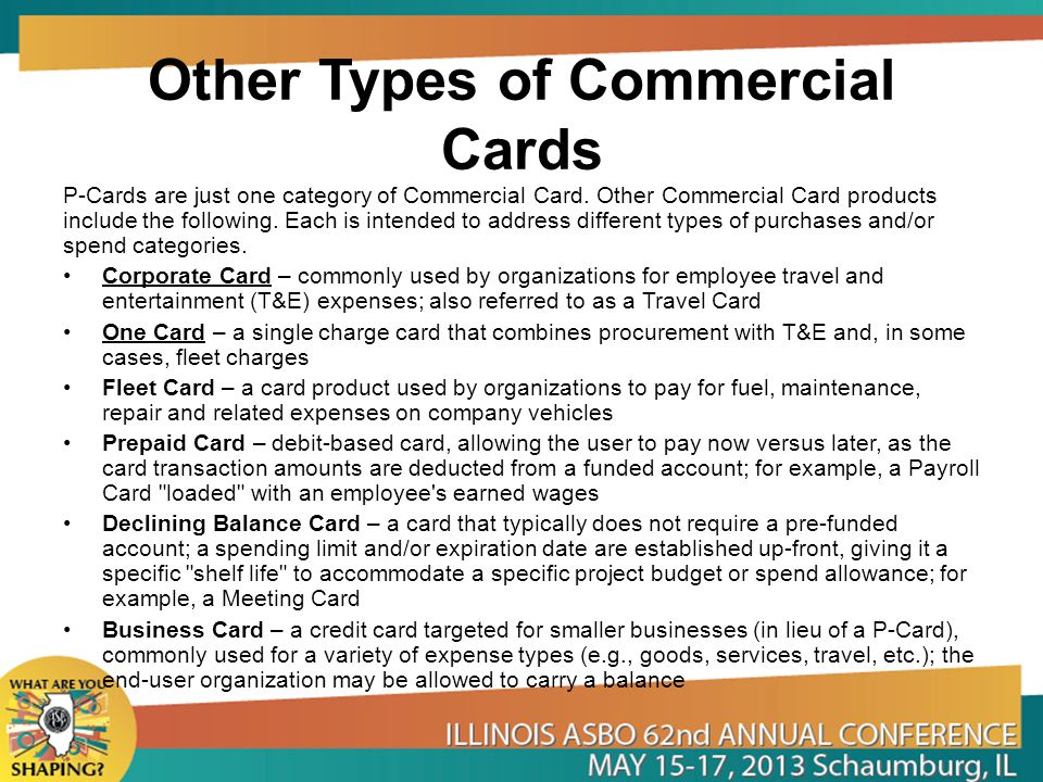 Other Types of Commercial Cards