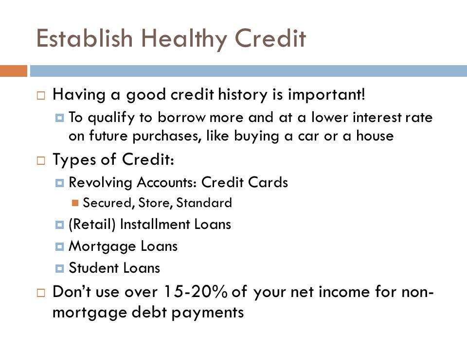 Establish Healthy Credit