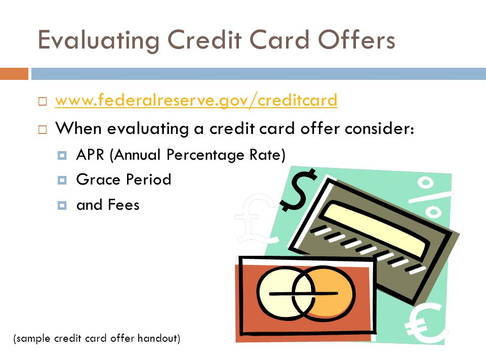 Evaluating Credit Card Offers