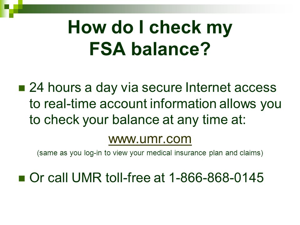 How do I check my FSA balance