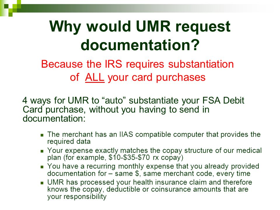 Why would UMR request documentation