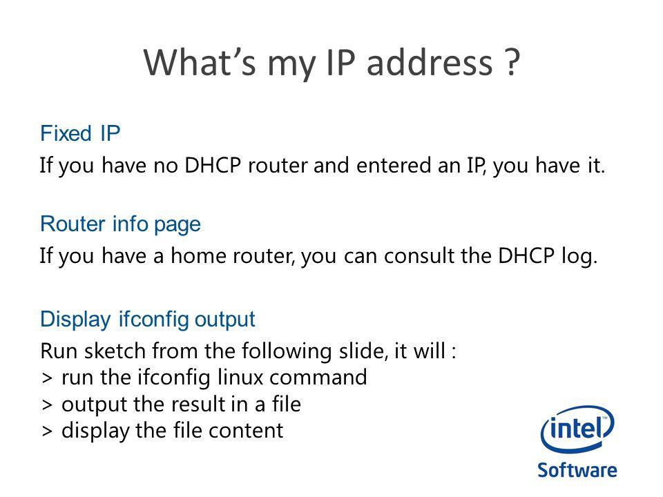 What's my IP address