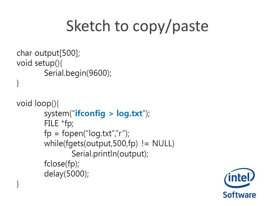 Sketch to copy/paste