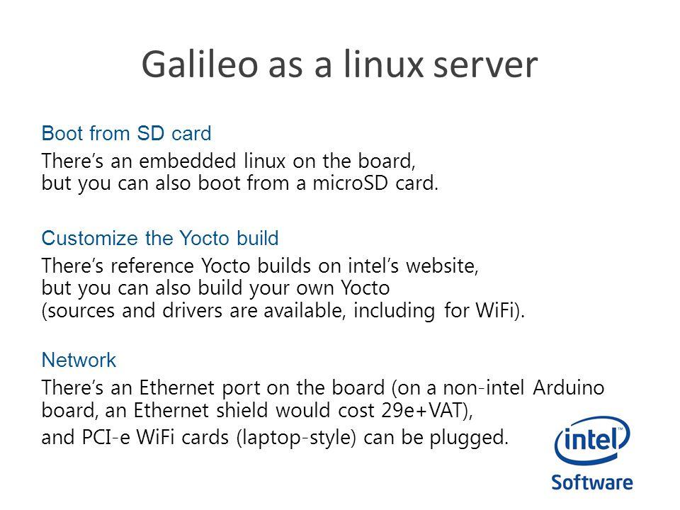 Galileo as a linux server