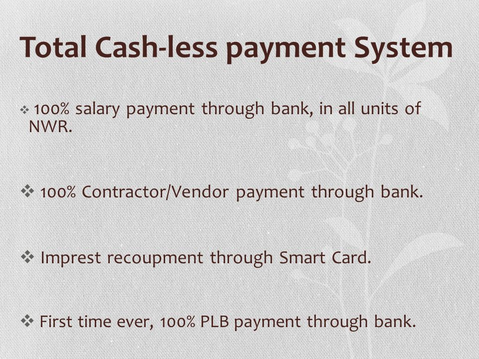 Total Cash-less payment System