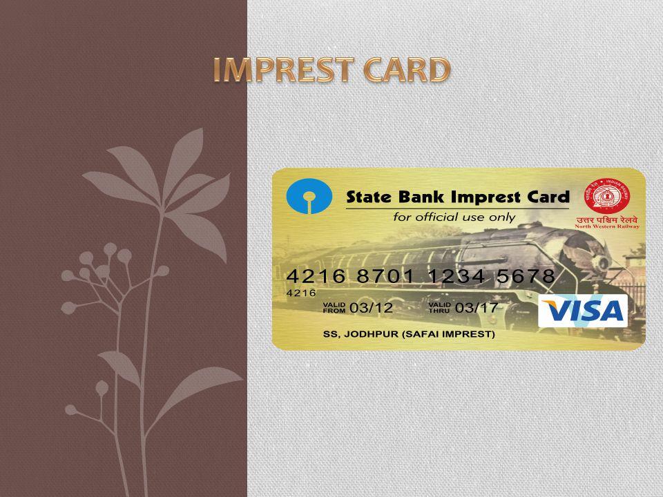IMPREST CARD