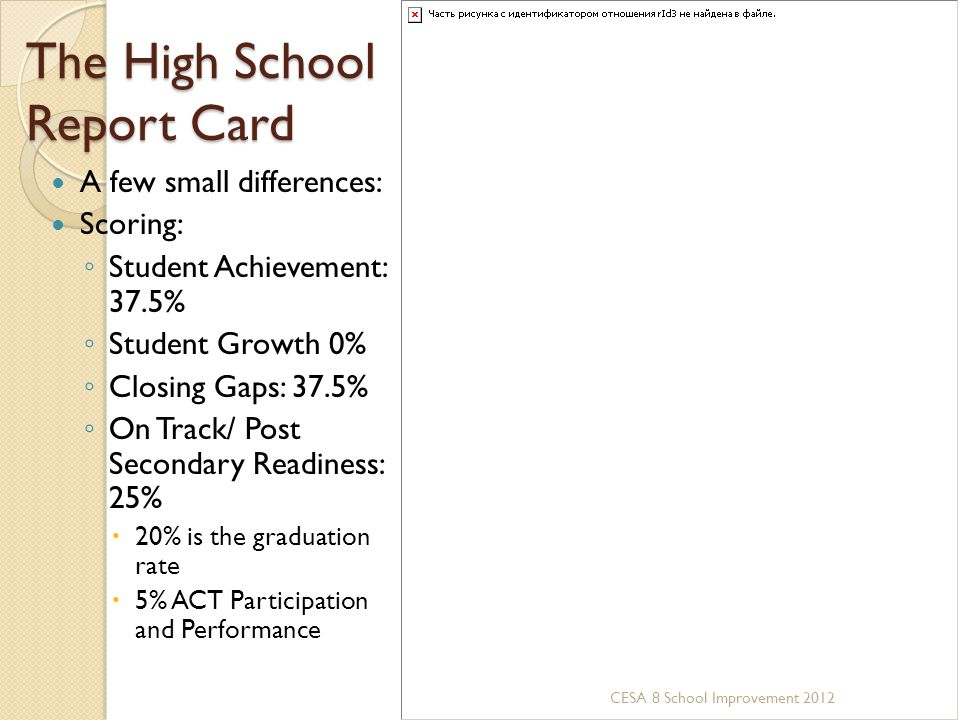 The High School Report Card