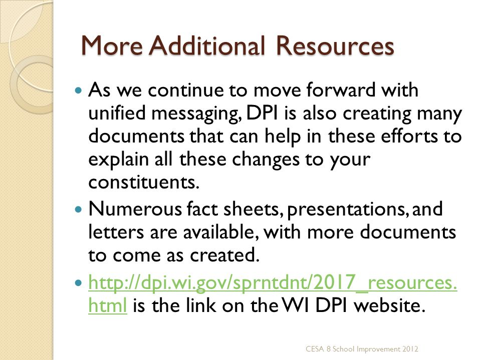 More Additional Resources