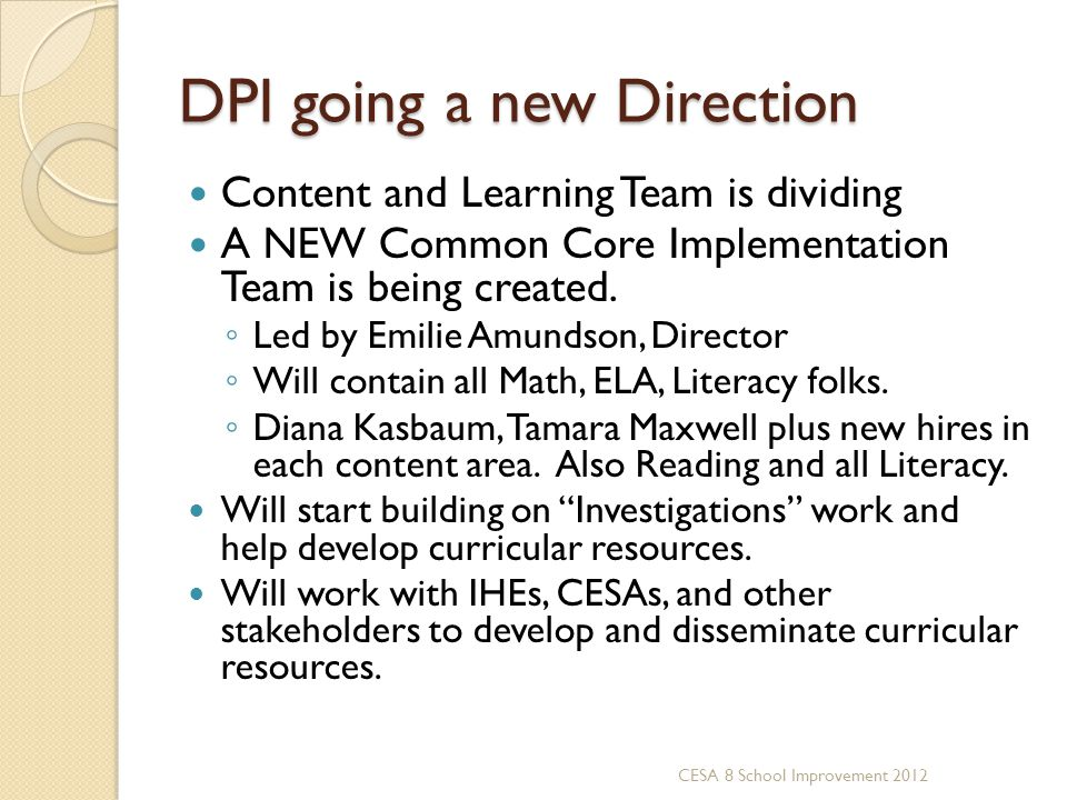 DPI going a new Direction