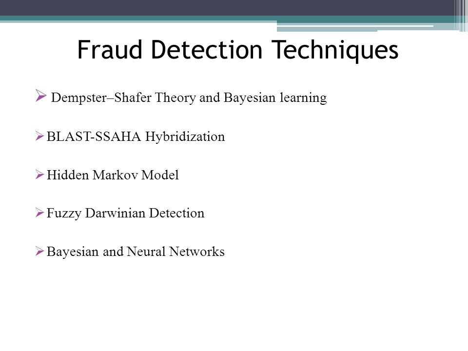 Fraud Detection Techniques