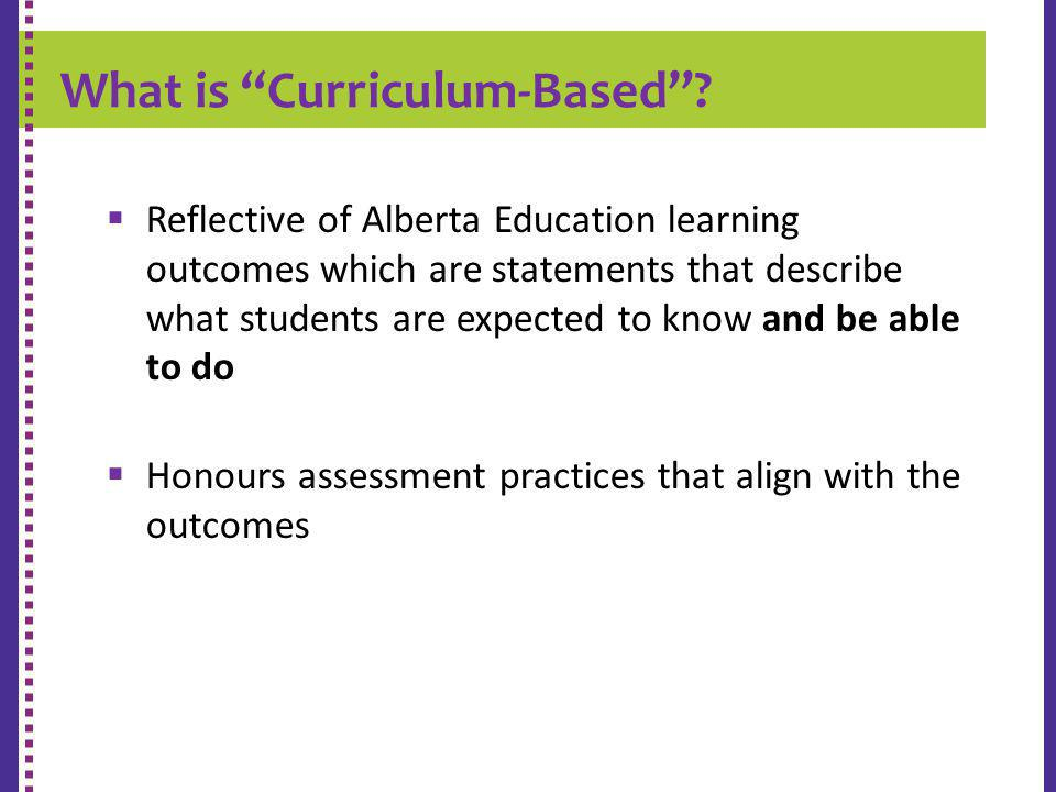 What is Curriculum-Based