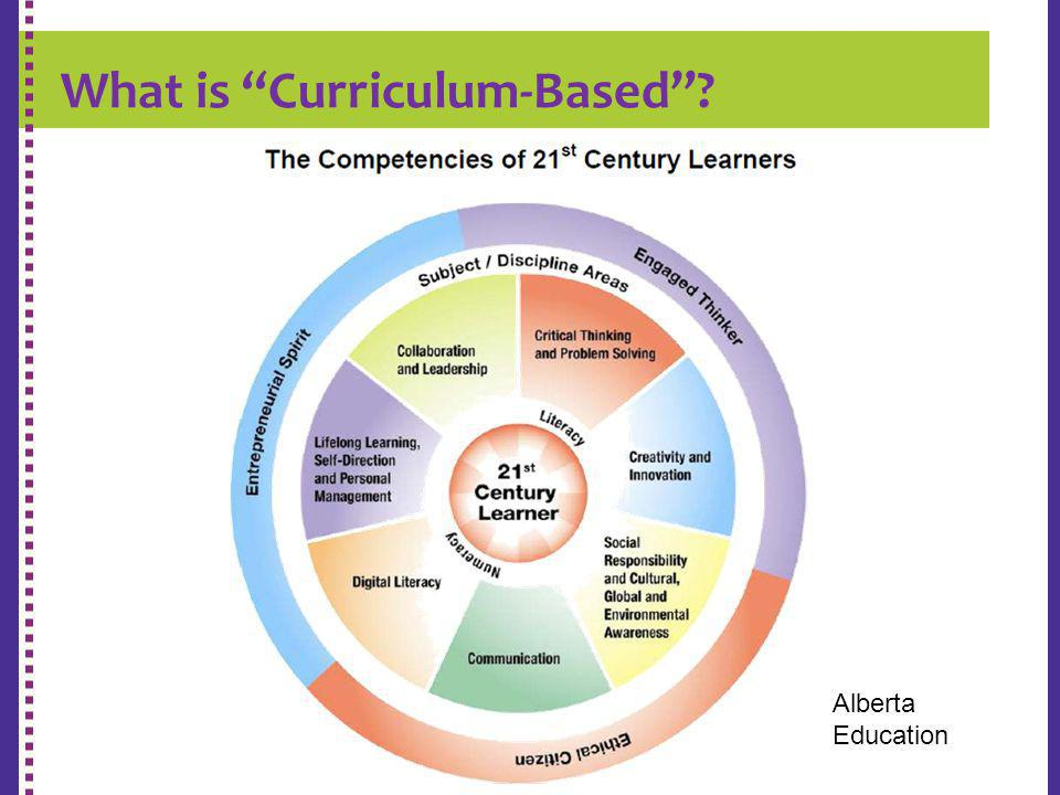 K-9 REPORT CARD Alberta Education What is Curriculum-Based