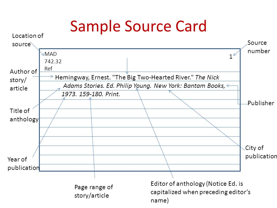 notecard format research paper Research paper: note cards and source  be valuable in your research paper  sample note cards organized by card topic .