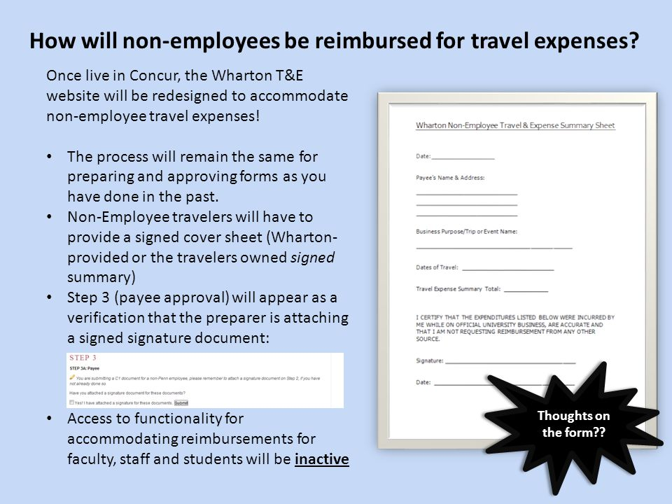 How will non-employees be reimbursed for travel expenses