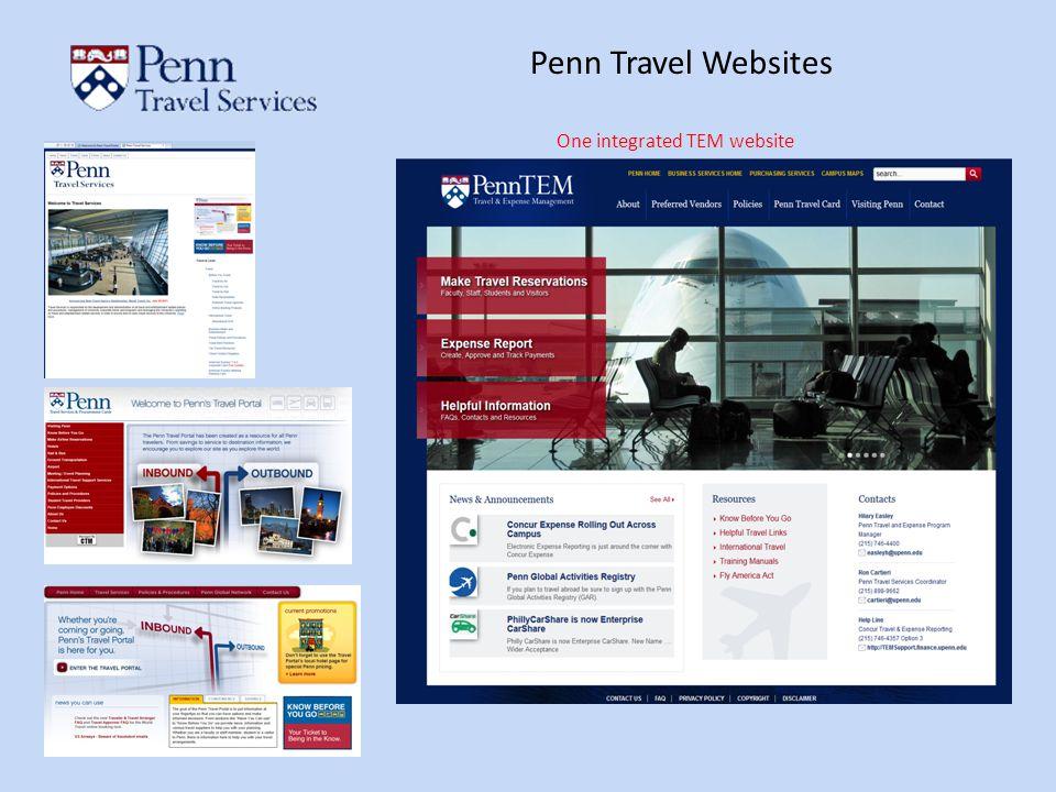 Penn Travel Websites One integrated TEM website
