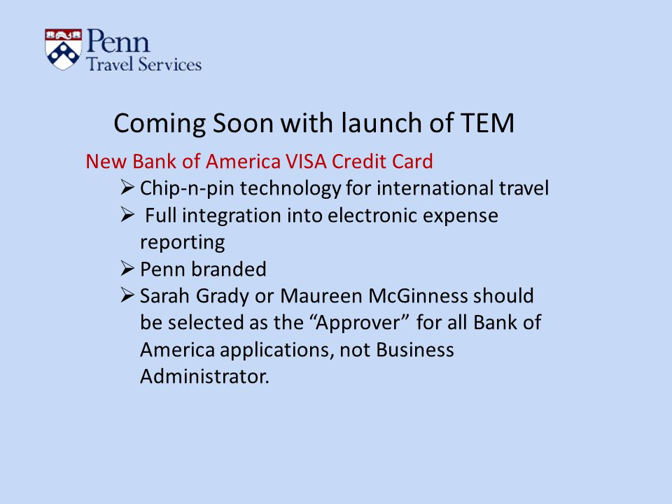 Coming Soon with launch of TEM