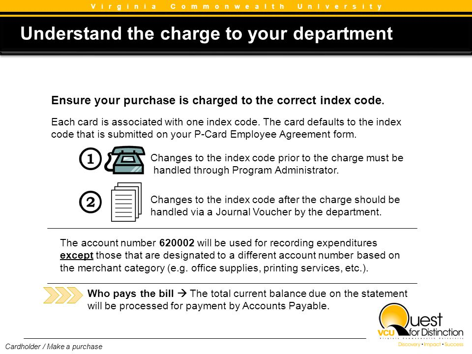 Understand the charge to your department