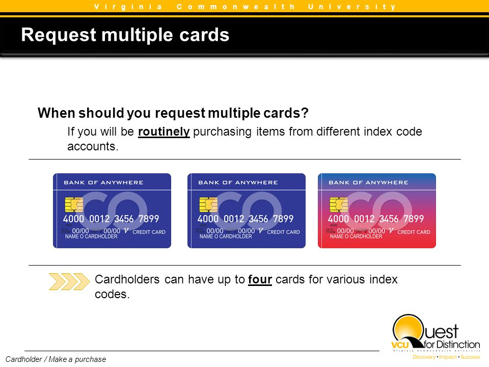 Request multiple cards