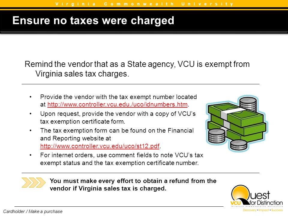 Ensure no taxes were charged