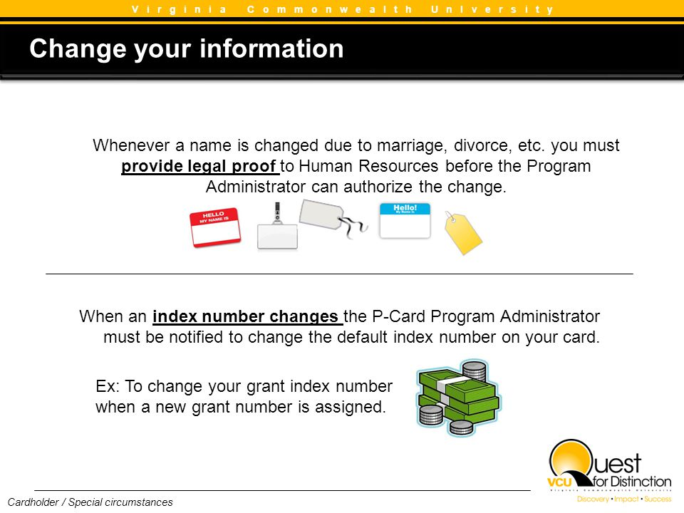 Change your information