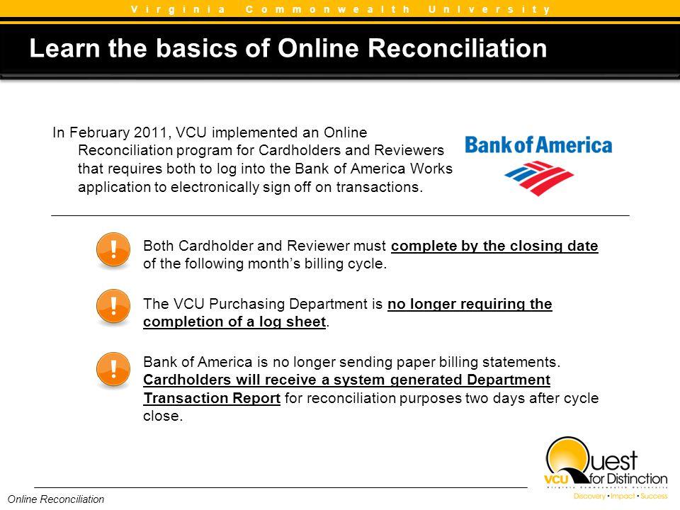 Learn the basics of Online Reconciliation