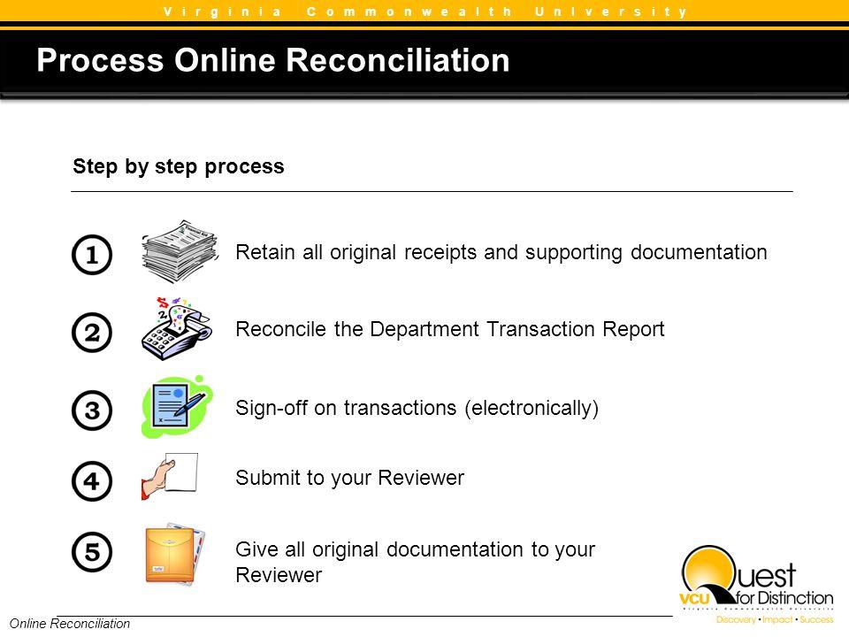 Process Online Reconciliation
