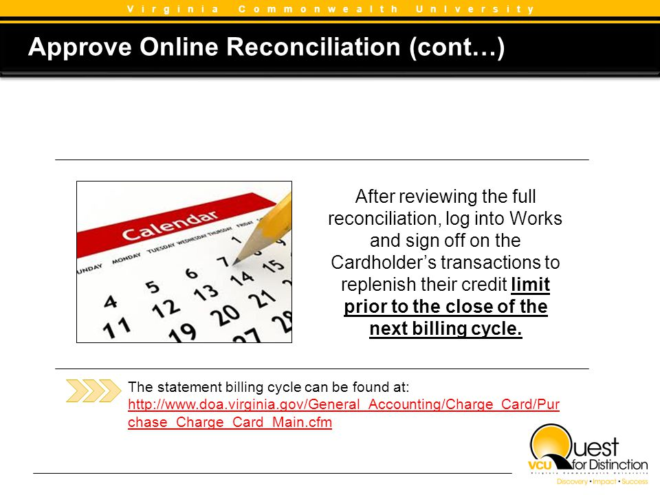 Approve Online Reconciliation (cont…)