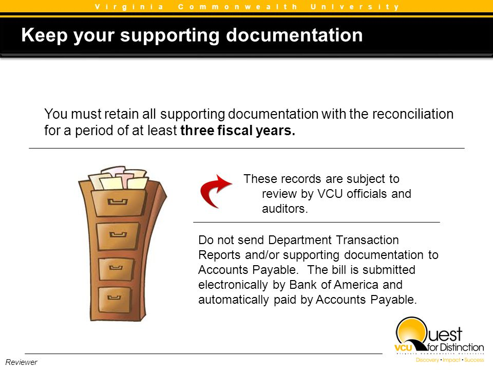 Keep your supporting documentation