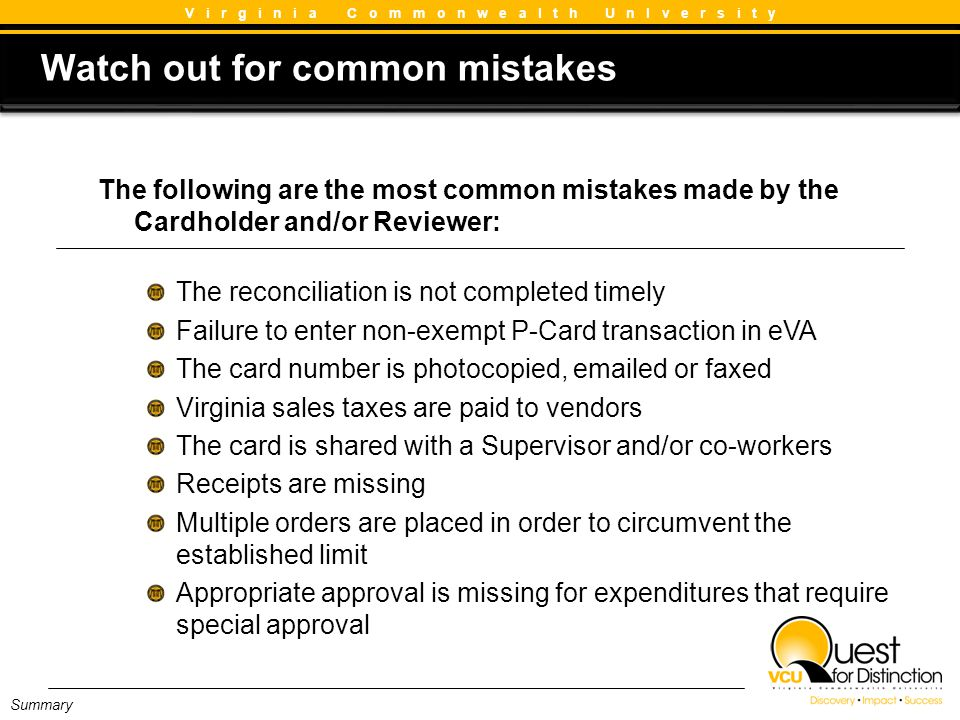 Watch out for common mistakes