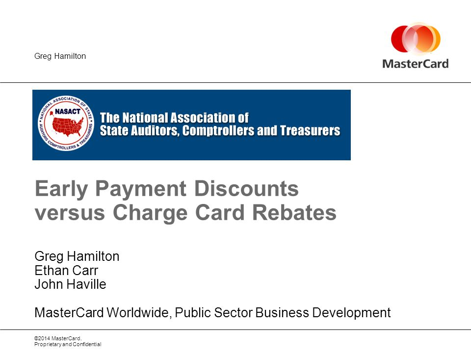 Early Payment Discounts Versus Charge Card Rebates Ppt Video