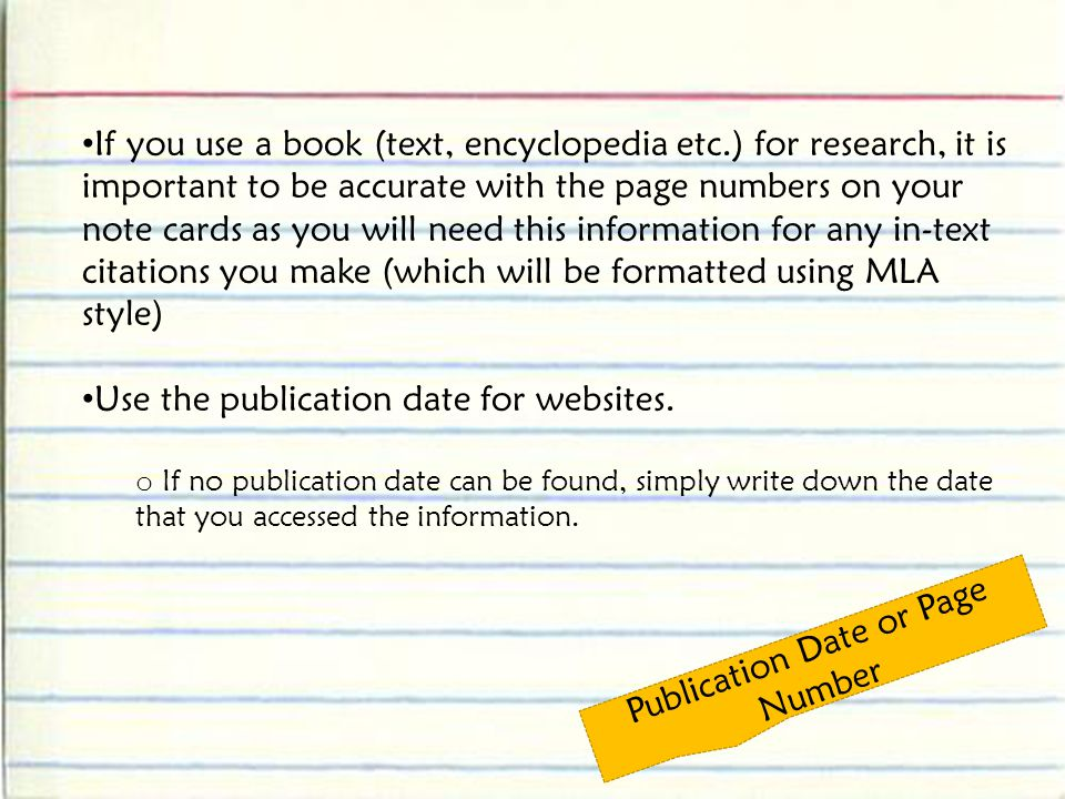 Publication Date or Page Number